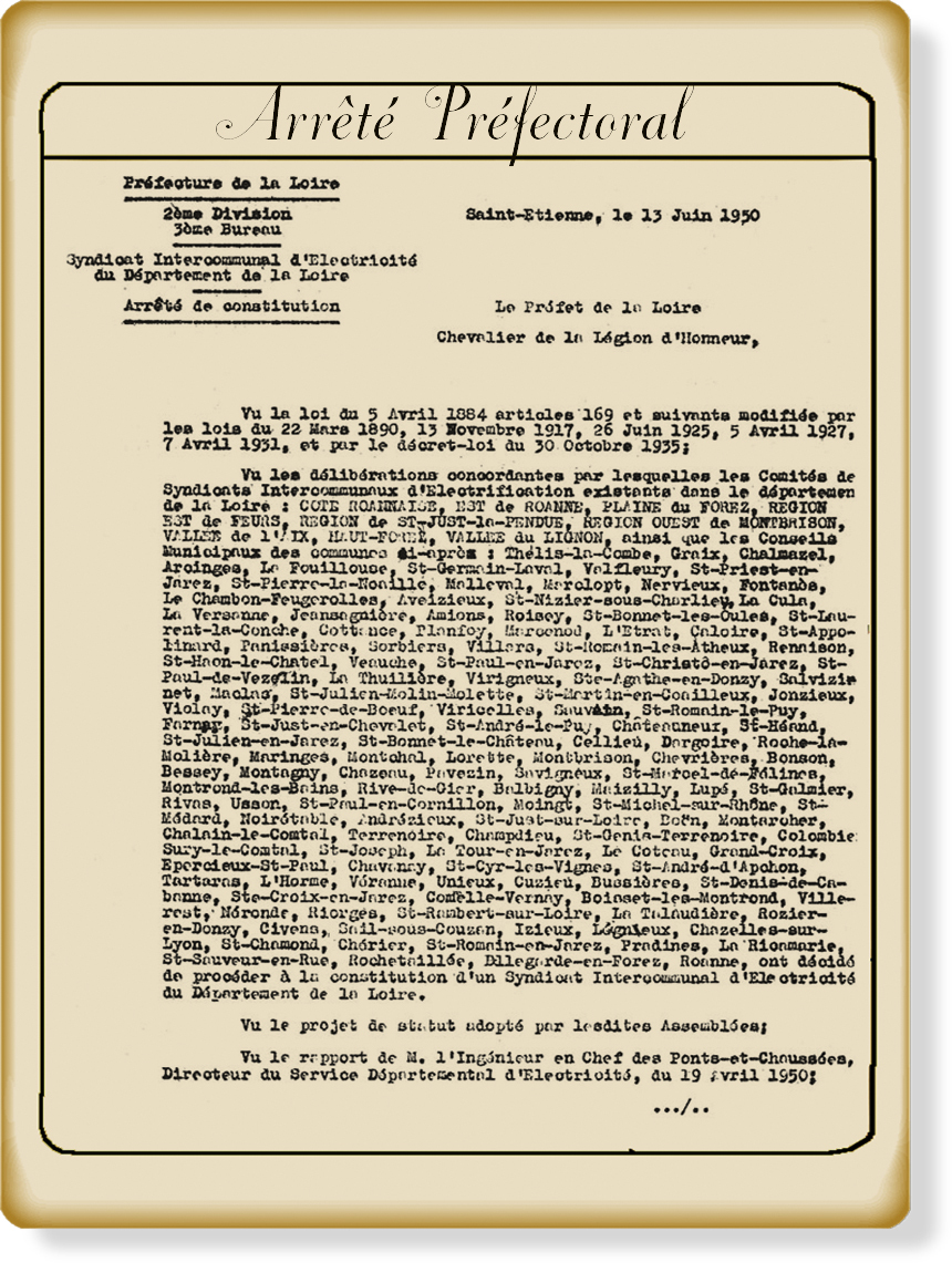 Arrete prefectoral 1950