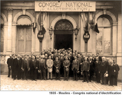 1935 Moulins Congres national electrification