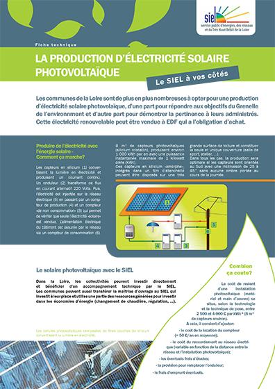 La production d'électricité solaire photovoltaïque