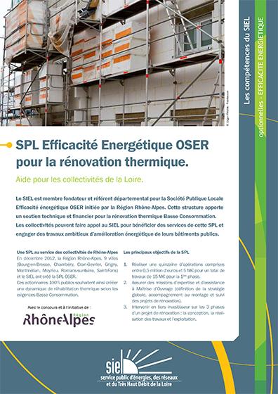 SPL Efficacité énergétique OSER pour la rénovation thermique