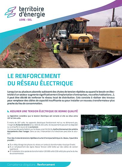 Le renforcement du réseau électrique