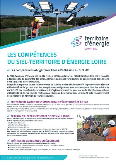 Les compétences du SIEL-Territoire d'énergie Loire