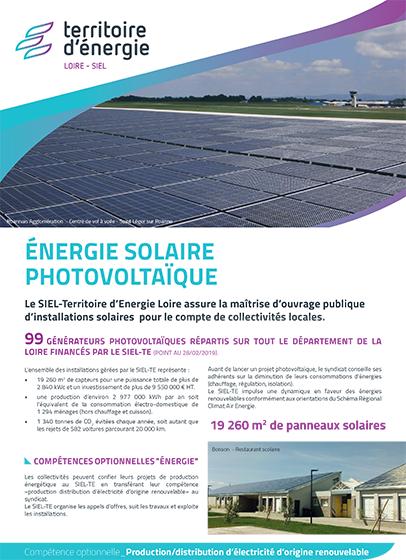 Énergie solaire photovoltaïque