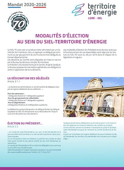 Modalités d'élection 2020-2026
