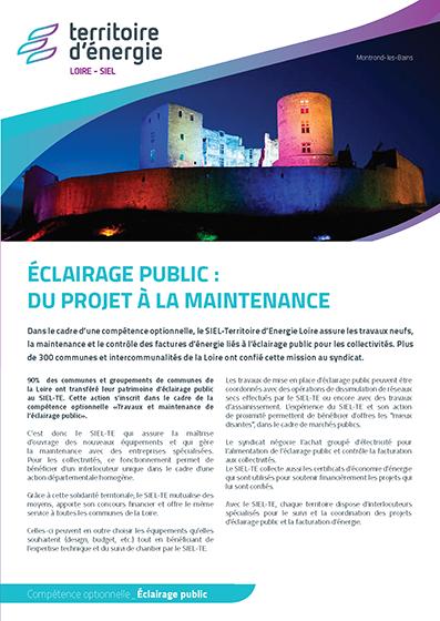 Éclairage public : du projet à la maintenance