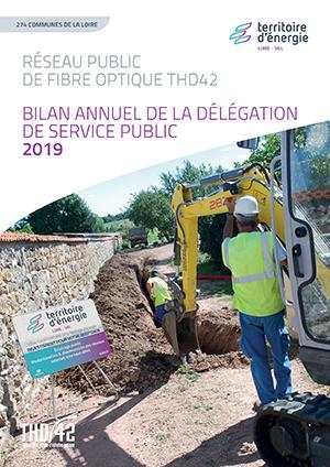 Bilan annuel de la délégation de service public THD42 2019