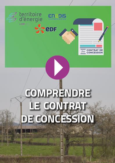 Qu'est-ce que le contrat de concession entre SIEL-TE42/ENEDIS/EDF ?